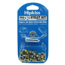 PP18 EYELET & TOOL PACK BRASS CLEAN