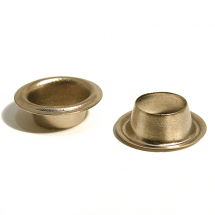 20 BRASS SAIL EYELET NICKEL PLATE