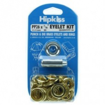 PP22 EYELET & TOOL PACK BRASS CLEAN