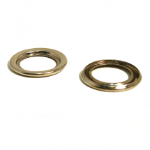 22 T/O RING BRASS NICKEL PLATE