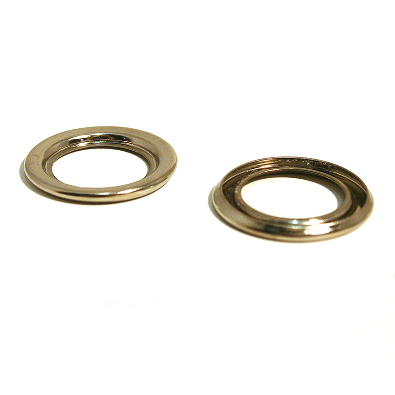 23 T/O RING BRASS NICKEL PLATE
