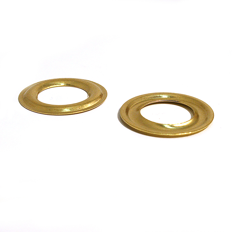 14MM FLAT WASHER BRASS CLEAN