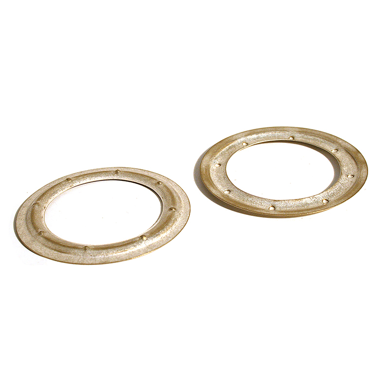 VL150 BRASS PIERCED WASHER SILVER MILK
