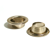 2 GROMMET EYELET BRASS NICKEL PLATE