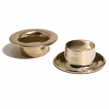 6 GROMMET EYELET BRASS NICKEL PLATE