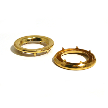 2 GROMMET WASHER BRASS CLEAN