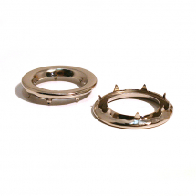 2 GROMMET WASHER BRASS NICKEL PLATE