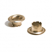 00 COLUMBIA X LG BRASS EYELET NICKEL PLATE