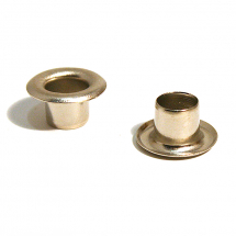 1252R BRASS EYELET NICKEL PLATE