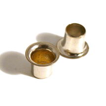 08 BRASS EYELET NICKEL PLATE