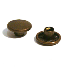 34 STEEL CAP ANTIQUE BRASS