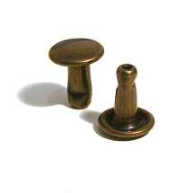 33D CAPPED STEM STEEL ANTIQUE BRASS (33/8/2)