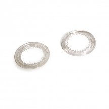 16MM PLASTGROMMET WASHER CLEAR