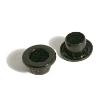 8MM PLASTGROMMET EYELET BLACK