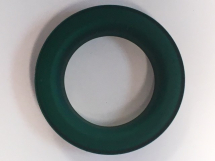 CURTAIN EYELET & WASHER BRASS RUBBERISED GREEN