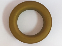 CURTAIN EYELET & WASHER BRASS RUBBERISED YELLOW/GOLD
