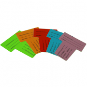MEDIA CARDS FOR MEDIA RACK PACK OF 10 (5 COLOURS)